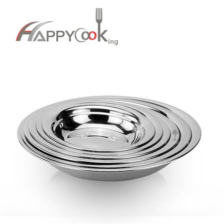 Meal tray dinner plate restaurant of stainless steel with Chinese style Eco-friendly HC-00701