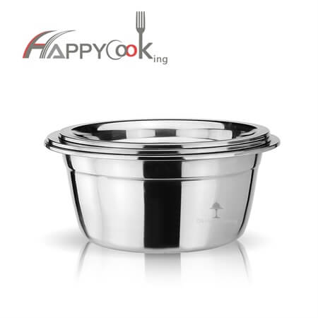 Big mixing bowl rice bowl set of stainless teel with low price different capacity HC-00300