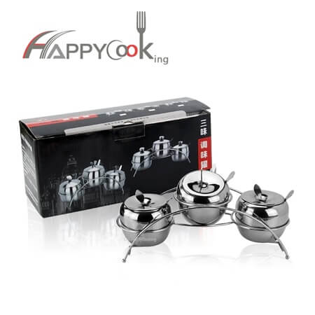 cruet set of stainless steel with high quality different size HC-02718-A