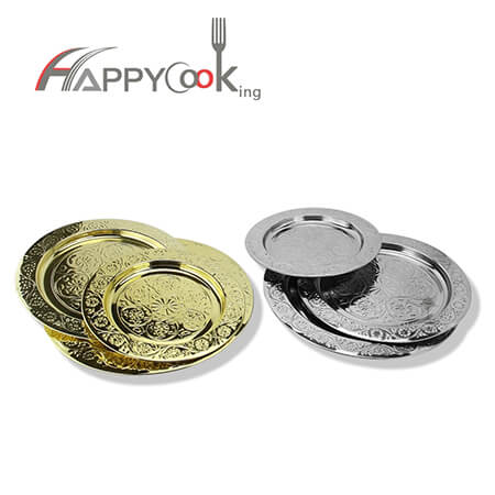 Dinner trays vanity tray of stainless steel with best sales 22-70cm factory price HC-00912-AB