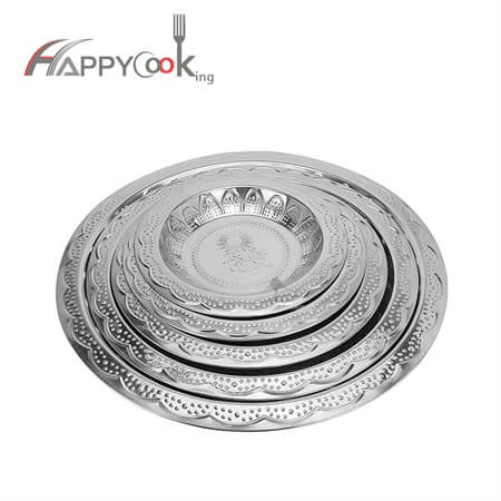dish of stainless steel with beautiful cherry design HC-00911