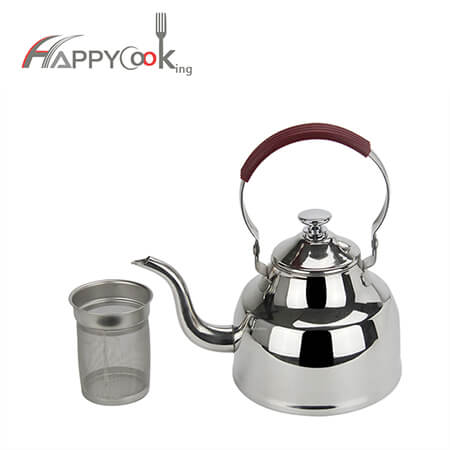 Gooseneck  kettle  camping teapot  of hot sale stainless steel boiling water kettle HC-01412-A