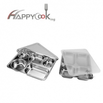 Lunch in a  box  of stainless steel with  lid forfactory direct sale HC-00606