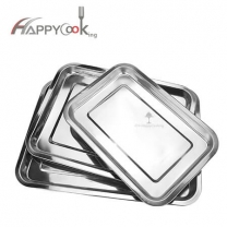 sheet metal tray set of stainless steel with Swirl Pattern - Wide Rim  Manufacture CHINA HC-00601