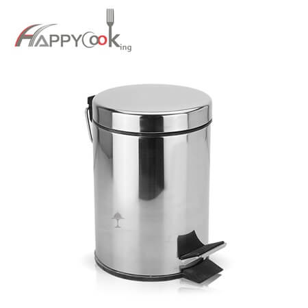 Kitchen waste basket garbage bin with stainless steel factory reasonable price HC-02806
