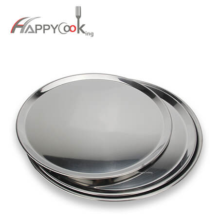 Large metal dish round tray for stainless steel hot sale party serving with S/S 410 HC-00716