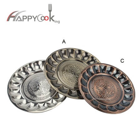 Large serving tray  golden trayof stainless steel with wholesale food tray checkered HC-00907