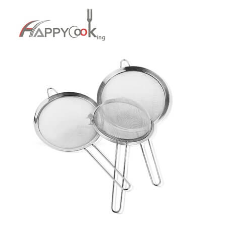 mesh skimmer of stainless steel cooking utensils with high quality and best service HC-04102