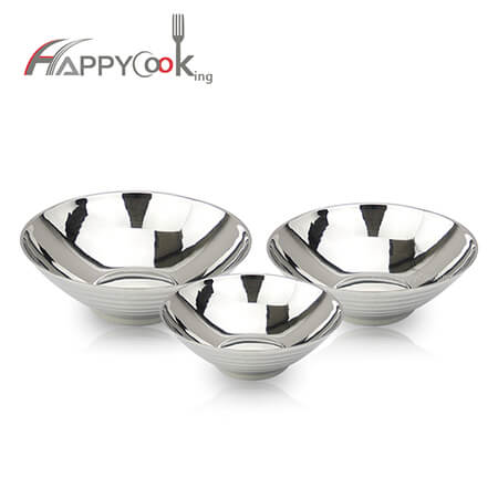 Pasta bowl  rice bowl for stainless steel rice bowl factory sale and large price favorably HC-02717