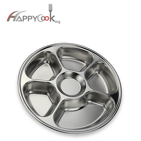 circular tray manufacture stainless steel food tray