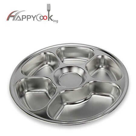 circular tray ODM stainless steel food tray