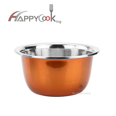Salad bowl reusable salad bowl of stainless steel with 2019 new style hot selling    HC-00416-A