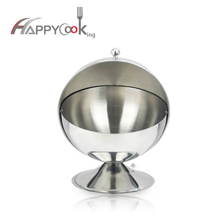 Salt jar sugar bowl with lid with stainless steel excellent rolltop round shape HC-02710-A