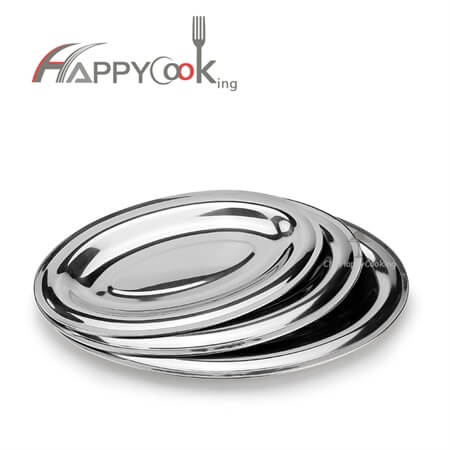 serving platters of best price high quality stainless steel oval shape HC-00803-A