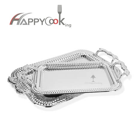 Silver tray wedding tray of elegant high quality stainless steel factory price HC-00813-B