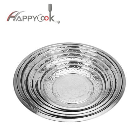 Steel plate for sale pizza serving  of Wholesale high quality stainless steel   HC-00915