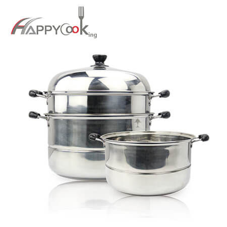 rice pot with hot sale 2 layer stainless steel HC-02004
