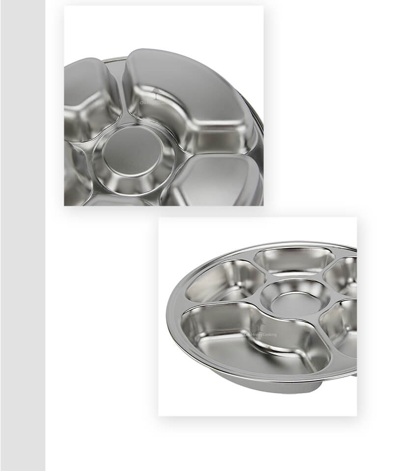 circular tray  supplier stainless steel food trayexport