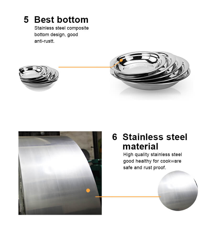 stainless steel  circular tray  stainless steel food tray wholesale