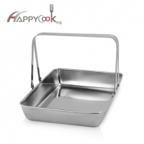 tray dual handle of wholesale high quality stainless steel odm HC-00605C