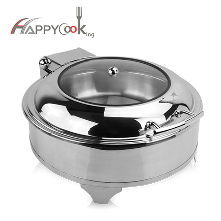 Chafing pot round of stainless steel manufacturer fashionable HC-02410-A
