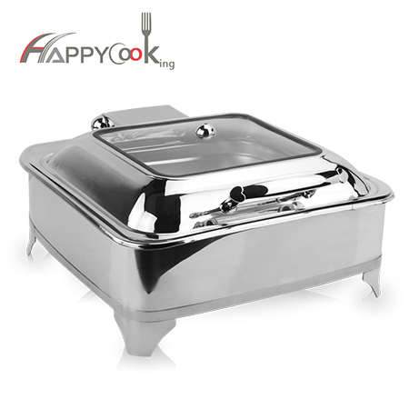 Square chafing dish stainless steel shape fashion design, good quality HC-02410-B