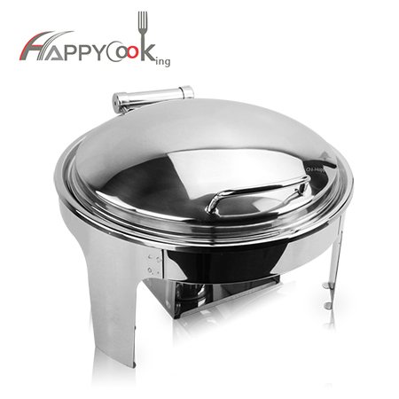 Round buffet dish of stainless steel metal of high quality factory HC-02411-A