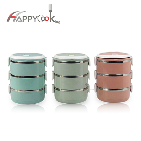 bento lunchbox of stainless steel with good price and good quality HC-03101-D