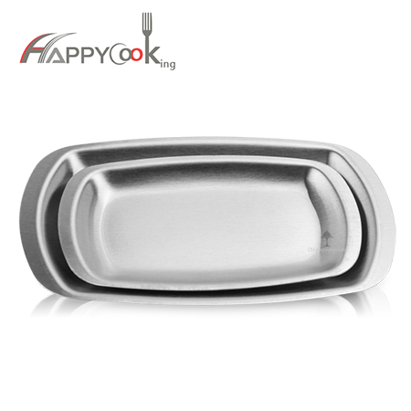 Seasoning dish of unique design stainless steel plate sets HC-02723