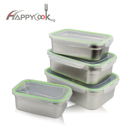 storage food set with 201 stainless steel of good service and good factory HC-02813