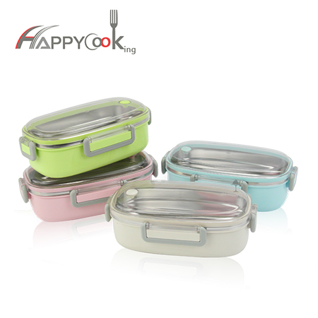 Lunch box single grid of 304 stainless steel material suitable for children's lunch box HC-03120-A