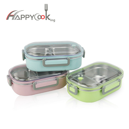Lunch box leakproof hot sale 304 stainless steel children's food box container wholesale HC-03120-B