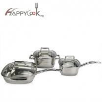 Kitchenware pot set of  stainless cookware 3 sets  factory wholesale supplier