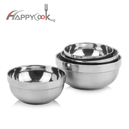 Double wall steel bowl of stainless steel container wholesale soup bowl factory HC-03501