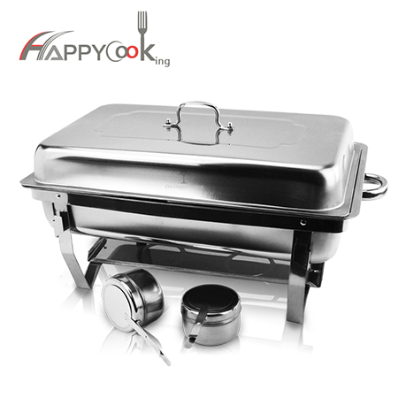 Folding chafing dish set of stainless steel factory buffet equipment heating HC-02403-B