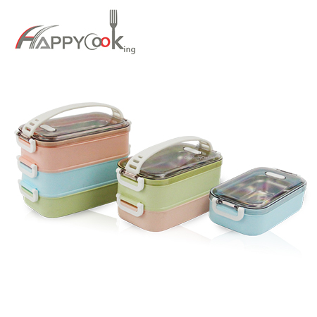 Bento portable lunch box stainless steel multi-layer school food container good quality  HC-03018
