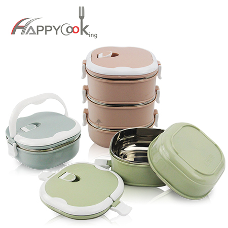 multiple layer lunch box stainless steel 123-layer food square bento containers leakproof HC-03002-B