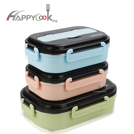 Food bento storage box stainless steel supplier picnic lunch container  for school work HC-02906-A