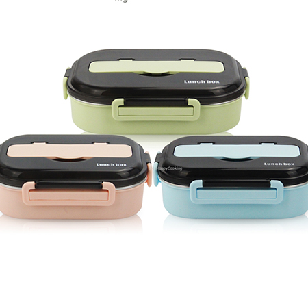 Food bento storage box  Stainless Steel Lunch Box Portable Bento Box Container !