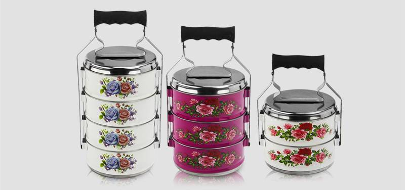 metal tiffin container ODM 2/3/4 layer food carrier