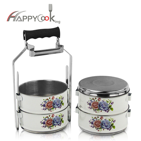 metal tiffin container wholesaler 2/3/4 layer food carrier