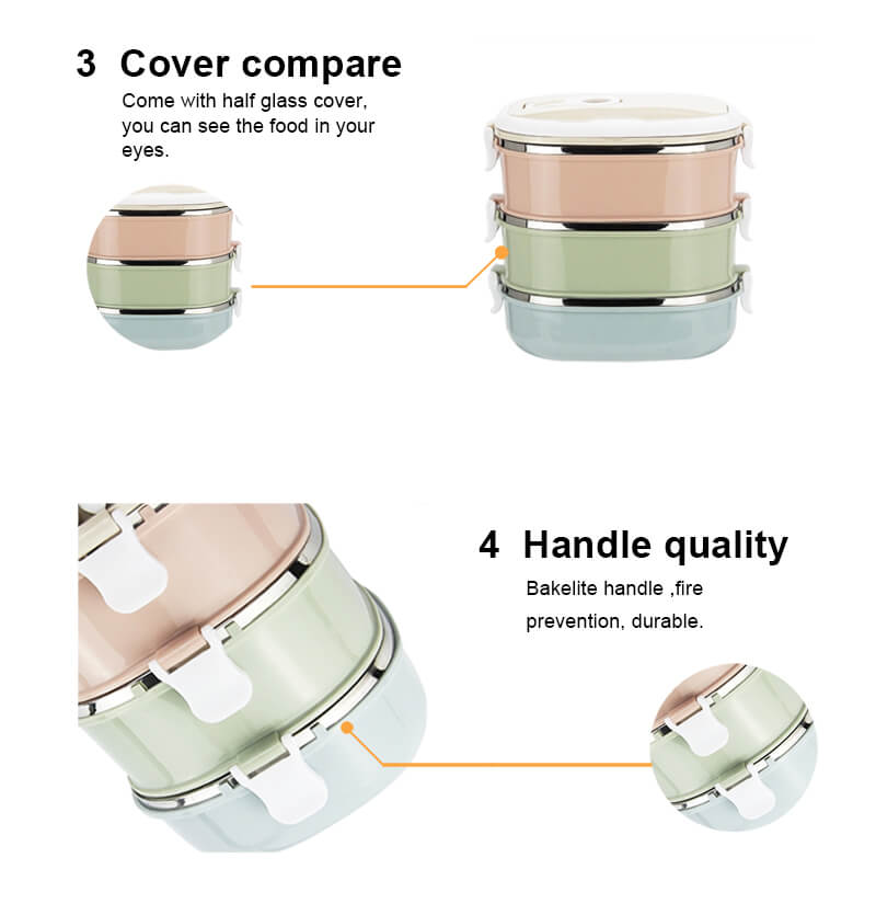 stainless steel metal tiffin container import lunch boxes leak proof