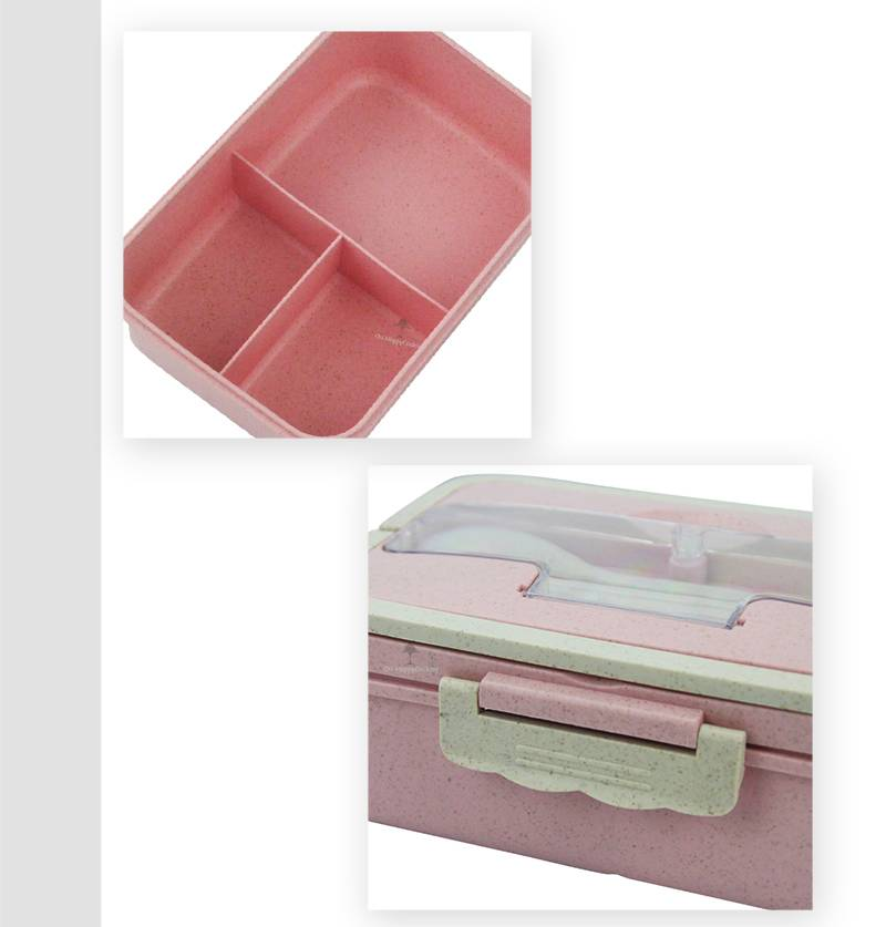 wheat straw food storage price  lunch box container 3 grid import