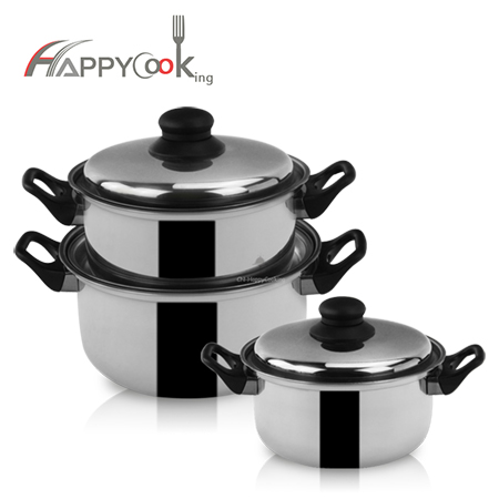 cookware pot set  wholesaler soup pot set