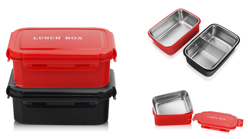 portable double lunchbox ODM stainless steel