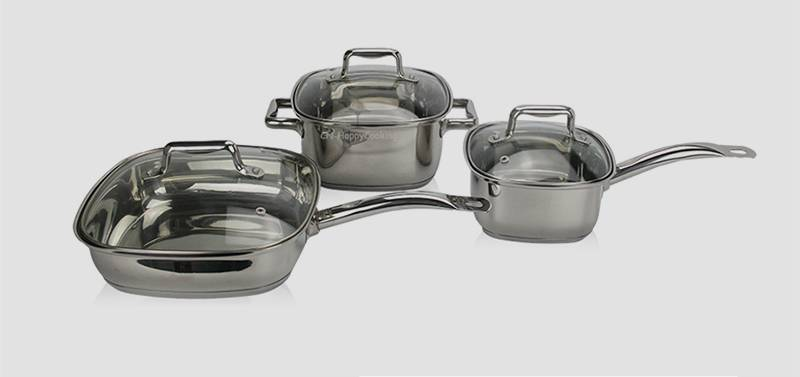 kitchenware pot set  stainless cookware 3 sets supplier