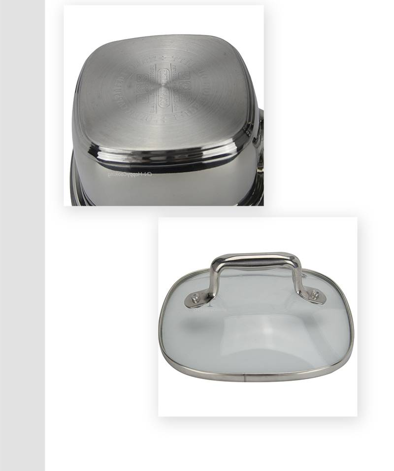 kitchenware pot set  stainless cookware 3 sets factory