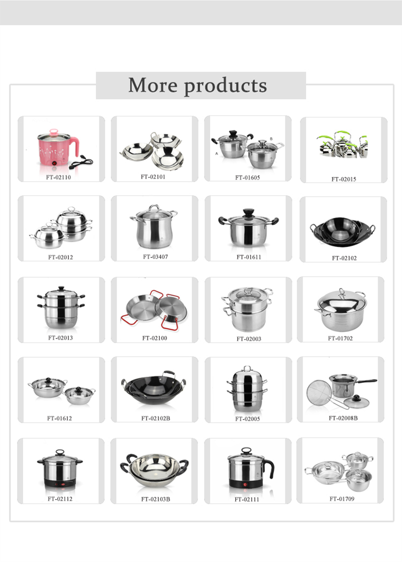 kitchenware pot set  stainless cookware 3 sets