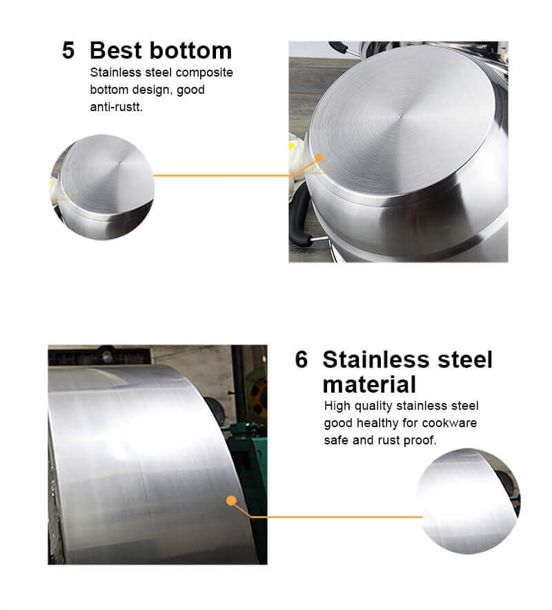 stainless steel induction cooker pot milk noodle pan factory