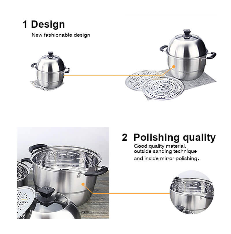 stainless steel induction cooker pot milk noodle pan supplier